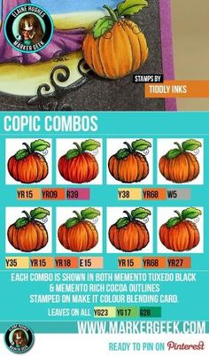Pumpkins - Copic Marker Combos - www.markergeek.com by roslyn