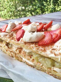 Paras Britakakku valmiina Baking Recipes, Dessert Recipes, Desserts, Finnish Recipes, Sweet Pastries, No Bake Cake, Food To Make, Tart, Bakery