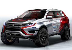 Mitsubishi Outlander PHEV Baja 500 rally car