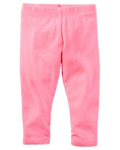Baby Girl Garment-Dyed Capri Leggings from Carters.com. Shop clothing & accessories from a trusted name in kids, toddlers, and baby clothes.