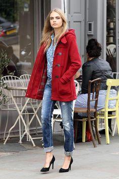<3 Red Coat #StreetStyle