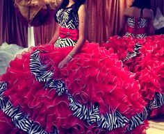 2015 Spring New Red/Zebra ᑐ Quinceanera Dresses Ruffle Long Ball ⑦ Gown Prom Pageant Dress Red Floor Length Vestidos De 15 Anos 2015 Spring New Red/Zebra Quinceanera Dresses Ruffle Long Ball Gown Prom Pageant Dress Red Floor Length Vestidos De 15 Anos 15 Anos Dresses, Big Dresses, Kohls Dresses, Quince Dresses, Gypsy Dresses, Simple Dresses, Beautiful Dresses, Casual Dresses, Summer Dresses