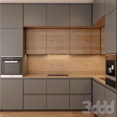Luxury Kitchen Design, Kitchen Room Design, Kitchen Cabinet Design, Kitchen Layout, Home Decor Kitchen, Interior Design Kitchen, Home Kitchens, Modern Kitchen Cabinets, Kitchen Modern