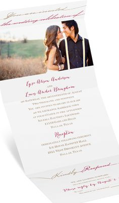 Simply elegant and absolutely perfect Seal and Send wedding invitation. #photoweddinginvitation