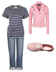 Sixth by rubi-mariya on Polyvore featuring мода, Sea, New York, Boutique Moschino, Paige Denim and Vans