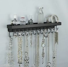 11 DIY Necklace Storage Ideas Shelves Necklace storage and Diy