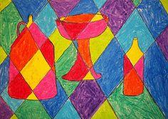 Warm/Cool cubism. #colorwheel #colorscheme