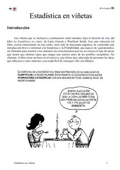 In English  Estadística en viñetas  Introducción  Las viñetas que se incluyen a continuación están tomadas, bajo el derech...