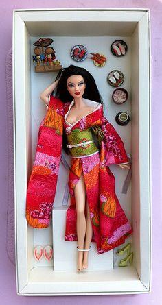 SE Asian Japanese doll ...love the sushi
