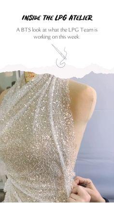 Couture Details, Fashion Sewing, Apparel Design, I Dress, Wedding Designs, Sparkles, Destination Wedding, Beading, Fashion Inspiration