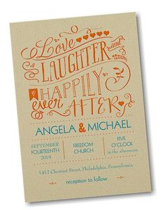 Laughter Ever After Wedding Invitation