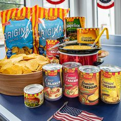 Add some golden goodness to your red, white and blue this 4th of July! With bursts of flavor, our nacho cheese will be sure to satisfy the whole family. #howtonacho