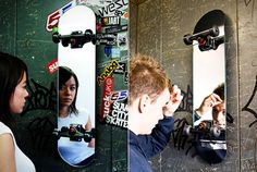 Skate Mirror by Suck UK