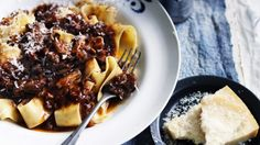 Oxtail ragu makes a lovely sauce for pappardelle pasta.