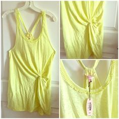 Victoria's Secret Tank Top Victoria's Secret tank top, can also be used as a swim suit cover up, neon yellow in color, Brand New with Tags Smoke Free ❌NO TRADES❌ BUNDLE & SAVE‼️ Victoria's Secret Tops Tank Tops