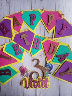 Items similar to Shimmer and shine banner-matching cake topper on Etsy Princess Birthday Party Decorations, Diy Birthday Banner, Birthday Board, 5th Birthday, Birthday Cake, Shimmer And Shine Decorations, Shimmer N Shine, Alice, Cake Toppers