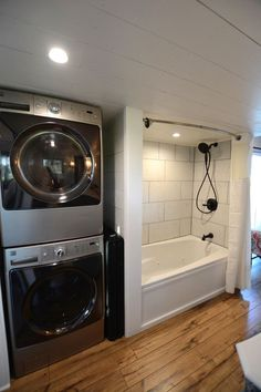 Stackable Washer/Dryer - Vintage Retreat by Hill Country Tiny Houses