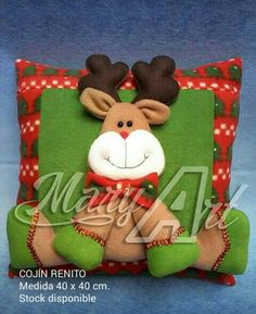 Tierno Christmas Clay, Christmas Crafts, Christmas Decorations, Christmas Ornaments, Holiday Decor, Christmas Chair Covers, Christmas Cushions, Christmas Sewing Projects, Xmas Stockings