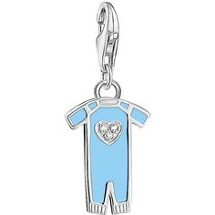 Thomas Sabo Thomas Sabo Sterling Silver Charm Club Blue Enamel Baby... (61 NZD) ❤ liked on Polyvore featuring jewelry, pendants, blue enamel jewelry, sterling silver enamel charms, charm jewelry, thomas sabo and enamel charms