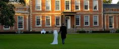 Middlethorpe Hall - Bridal couple on lawn