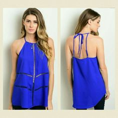 *Coming Soon!* This sleeveless top features a relaxed fit and crochet panels throughout. Tops Tank Tops
