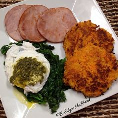 Finished my 3 day cleanse/refresh and had great results-no more bloat and cut again so my abs are showing again haha❗️Disappeared from eating too much sugar lately. ✨ I will post my results later. Anyhow this was breakfast...back to my norm...had uncured Canadian bacon, spinach cooked in a little ghee, shredded sweet potato cakes, and a poached egg with a little pesto ❤️ So good! https://www.facebook.com/TeamJERF