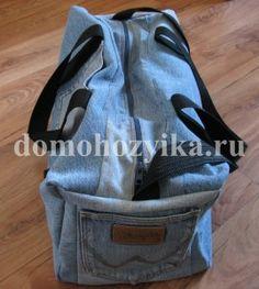 Джинсовая спортивная сумка своими руками
