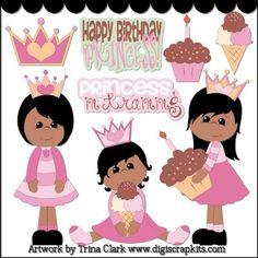 AA Birthday princess clip art