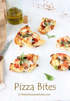 Pizza Bites by dishesfrommykitchen #Pizza_Bites #dishesfrommykitchen