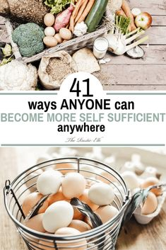 A self sufficient lifestyle is a lofty goal, but you can add to your skillset and become more self sufficient with these 41 ideas. Homestead Survival, Survival Prepping, Survival Shelter, Survival Gear, Survival Skills, Survival Books, Survival Backpack, Doomsday Prepping, Wilderness Survival