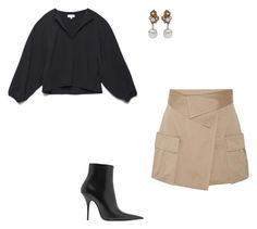 """Untitled #61"" by brontelindley ❤ liked on Polyvore featuring Miriam Haskell, Monse and Balenciaga"