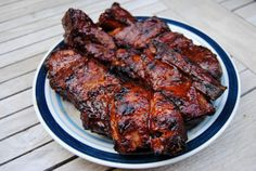 Grilled Country-Style Pork Ribs with Red Wine Vinegar Sauce