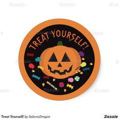 Treat Yourself! Classic Round Sticker