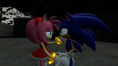 Sonamy magical night: I'm sorry by CyotheLion on DeviantArt Sonic And Amy, Sonic The Hedgehog, Fan Art, Deviantart, Characters, Night, Friends, Good Night, Amigos