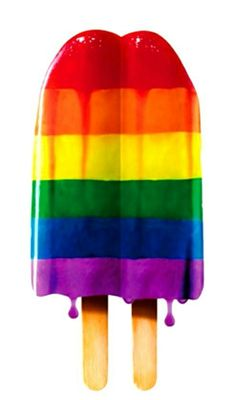 Juicy rainbow popsicle
