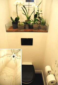 1000 images about toilettes cr atives on pinterest toilets toilet paper r - Decoration toilette gris ...