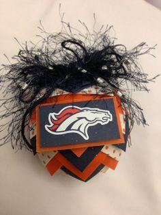 DENVER BRONCOS Christmas Ornament // NFL // by devotedfigtree, $17.00