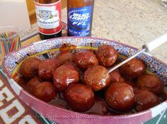Sweet n Sour Meatballs for Superbowl Party Food Recipe
