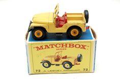 No. 72b Standard Jeep CJ5 w/Original Box 1966 by Matchbox Lesney toy Car Great Gift Stocking Stuffer by RememberWhenToys on Etsy