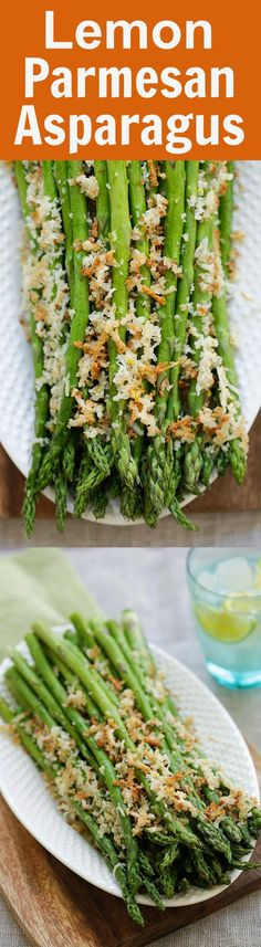 Asparagus with Lemon Parmesan Breadcrumbs - easy roasted asparagus with crunchy breadcrumbs with lemon and Parmesan cheese | rasamalaysia.com #passover
