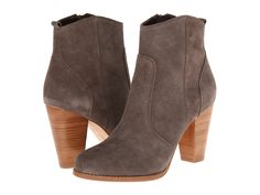 Joie - Dalton  Price: $325  The topstitched seams add an alluring elegance to these structured Joie booties. Suede upper. Covered side zip closure. Leather lining. Lightly cushioned leather footbed. Stacked heel. Leather sole. Imported. Measurements: Heel Height: 3 1 2 in Weight: 14 oz Circumference: 10 1 2 in