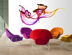 We've featured wall decals before but never ones that are from high-resolution photographs. These Wallflower wall stickers are from high-quality photos that are enlarged to enormous proportions and are a great alternative to wallpaper. They're super durable and won't rip or fade, and go right on your walls like any self-adhesive decal.
