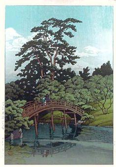 Kawase Hasui, Ritsurin Park, Takamatsu, 1937