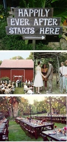 #Rustic wedding reception… Budget wedding ideas for brides, grooms, parents & planners ... https://itunes.apple.com/us/app/the-gold-wedding-planner/id498112599?ls=1=8 ♥ The Gold Wedding Planner iPhone App ♥