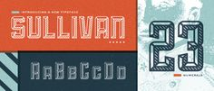 Sullivan is the latest face from Lost Type Co-op. Designed by Jason Mark Jones, Sullivan is a modular typeface that is meant to be layered. Typography Love, Typography Letters, Graphic Design Typography, Typography Inspiration, Design Inspiration, New Free Fonts, New Fonts, Font Free, Script Fonts