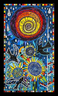 """""""When the Rains Come I'll be Gone"""" Mosaic by Flair Robinson by Flair Robinson Studio, via Flickr"""