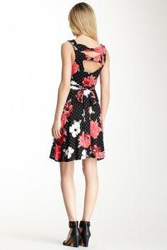 Floral Polka Dot Bow Dress on HauteLook