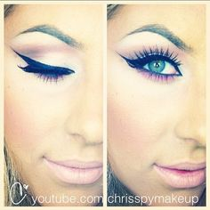 Here's a sneak peek from my winged eyeliner tutorial! Posting it Tuesday! :Dyoutube.com/chrisspymakeup