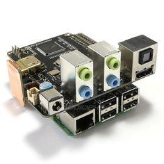 ST6000K DAC ES9023x4 HDMI 24Bit / 192kHz 8CH pour Raspberry Pi - Audiophonics
