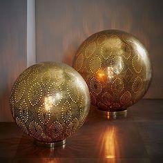 Moroccan Metal Orb Light #westelm